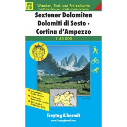 Carte randonnées Sextener Dolomiten, Cortina d'Ampezzo - Freytag 10