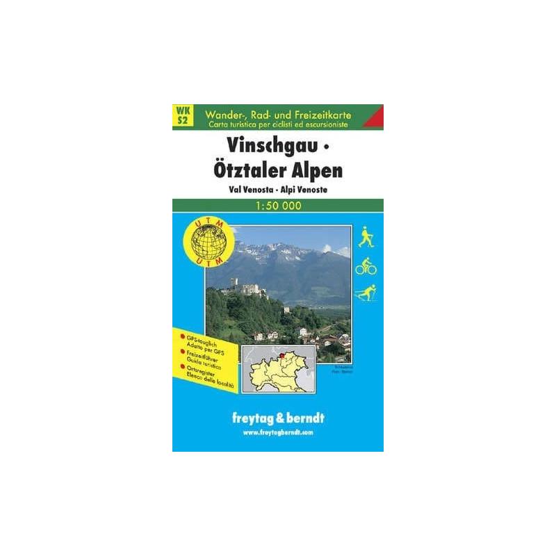 Achat Carte randonnées Vinschgau, Ötztaler Alpen - Freytag 2