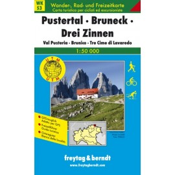 Carte randonnées Pustertal, Bruneck, Drei Zinnen - Freytag 3
