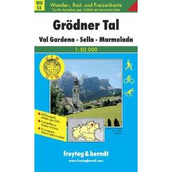 Carte randonnées Grödnertal, Val Gardena, Sella, Marmolada - Freytag 5