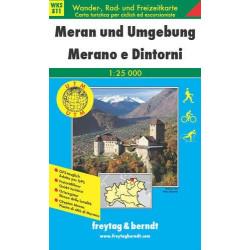 Carte randonnées Meran und Umgebung - Freytag 11