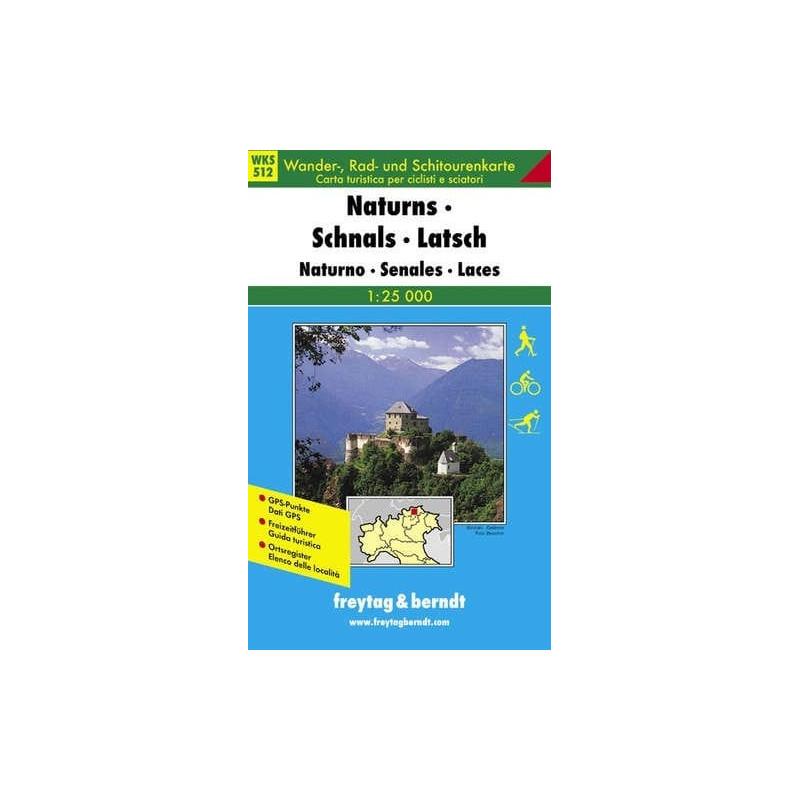 Achat Carte randonnées Naturns, Schnals, Latsch - Freytag 12