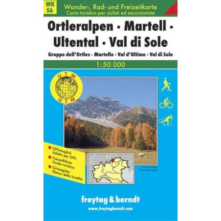 Achat Carte randonnées Orteralpen Martell - Freytag 6