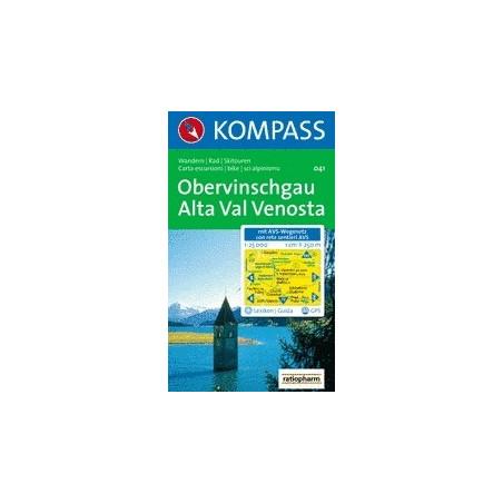 Achat Carte randonnées Obervinschgau, Alta Val Venosta - Kompass 041