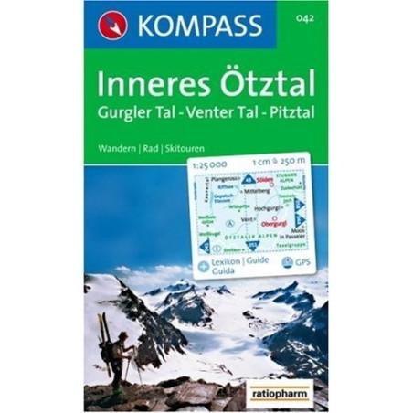 Achat Carte randonnées Inneres Ötztal, Gurgler - Kompass 042