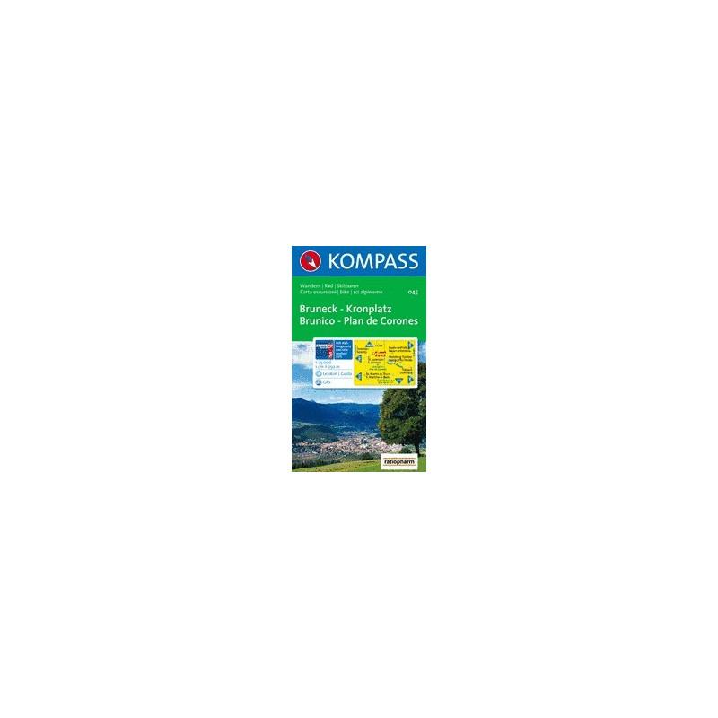 Achat Carte randonnées Bruneck - kronplatz / brunico - plan de corones - Kompass 045