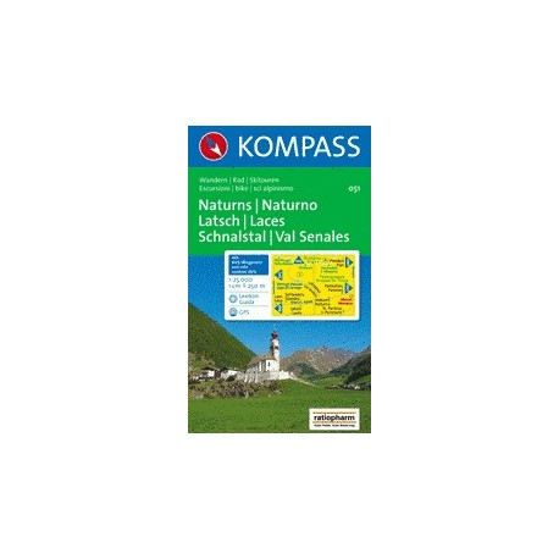 Achat Carte randonnées Naturns/Naturno, Latsch/Laces, Schnalstal/Val Sena - Kompass 051