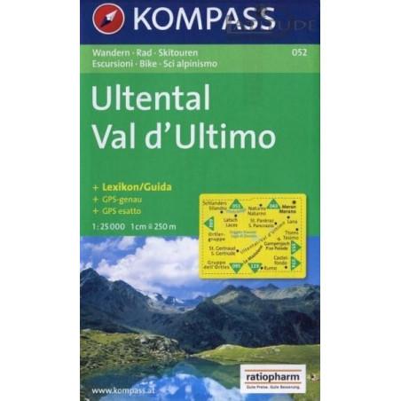 Achat Carte randonnées Ultental, Val d' Ultimo - Kompass 052