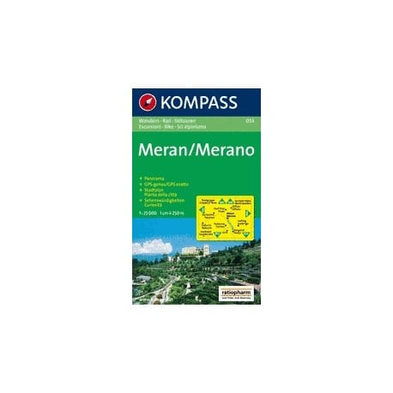 Achat Carte randonnées Meran, Merano - Kompass 053
