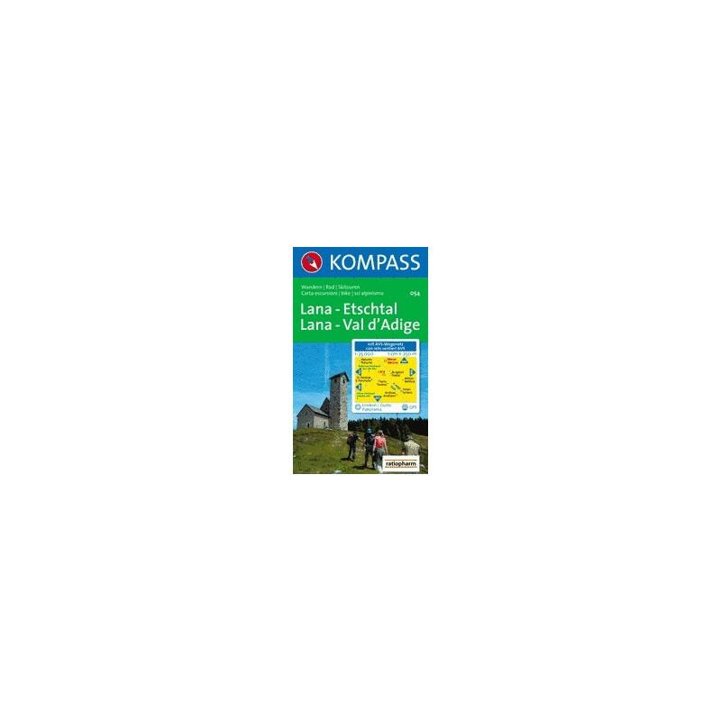 Achat Carte randonnées Lana, Etschal - Kompass 054