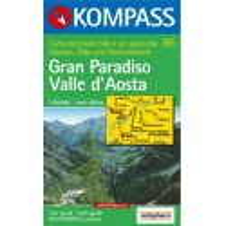 Achat Carte randonnées Gran Paradisio Valle d'Aosta - Kompass 86