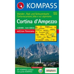 Achat Carte randonnées Cortina d'Ampezzo - Kompass 55