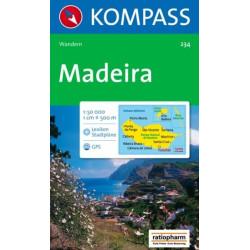 Achat Carte randonnées Madère, Madeire - Kompass 234