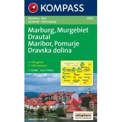 Maribor, Pomurje, Dravska dolina / Marburg, Murgebiet, Drautal - Kompass 2802