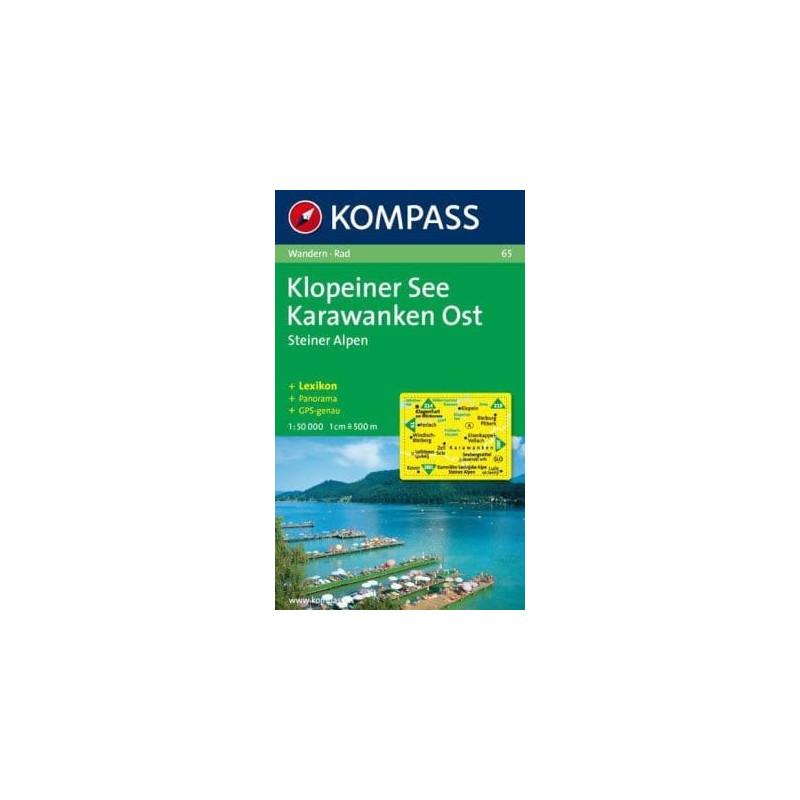 Achat Carte randonnées Klopeiner See - Karawanken - Kompass 65