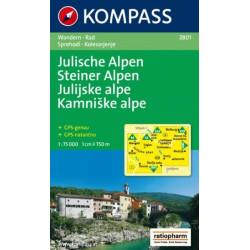 Achat Carte randonnées Alpes juliennes, Julische Alpen - Kompass 2801