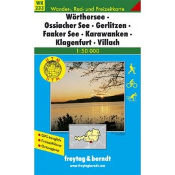 Achat Carte randonnées Wörthersee-Ossiachersee-Gerlitzen-Faaker See-Karawanken-Klagenfurt-Villach - Kompass 233