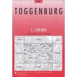 Carte randonnées swisstopo - Toggenburg - 33