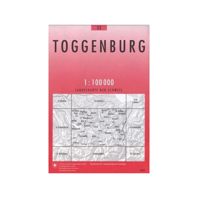 Achat Carte randonnées swisstopo - Toggenburg - 33