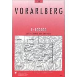 Carte randonnées swisstopo - Vorarlberg - 34