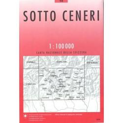 Carte randonnées swisstopo - Sotto Ceneri - 48