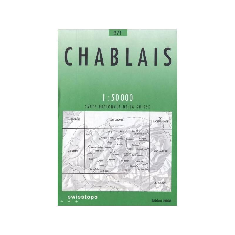 Achat Carte randonnées swisstopo - Chablais - 271