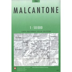 Carte randonnées swisstopo - Malcantone - 286