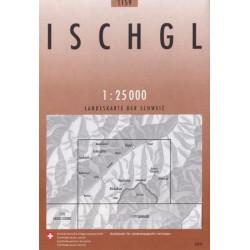 Carte randonnées swisstopo - Ischgl - 1159