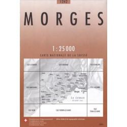 Carte randonnées swisstopo - Morges - 1242