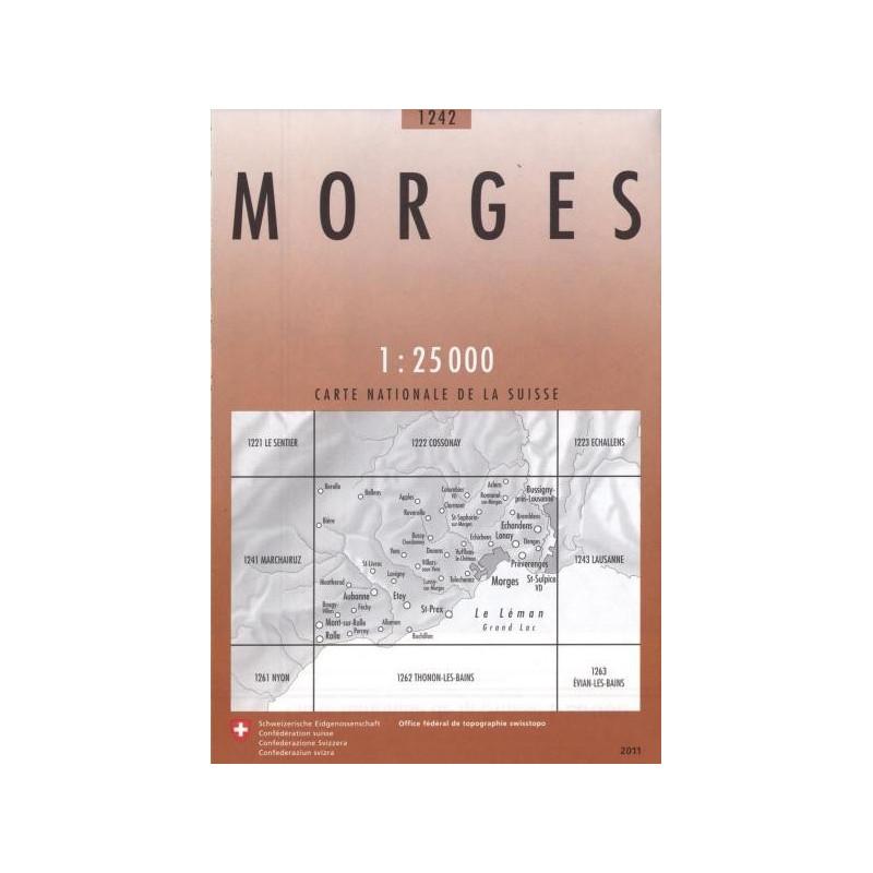 Achat Carte randonnées swisstopo - Morges - 1242
