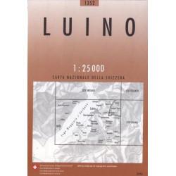 Carte randonnées swisstopo - Luino - 1352