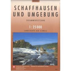 Carte randonnées swisstopo - Schaffhausen und Umgebund - 2511
