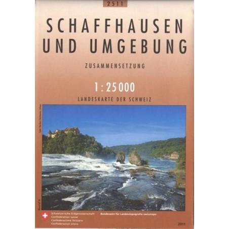 Achat Carte randonnées swisstopo - Schaffhausen und Umgebund - 2511