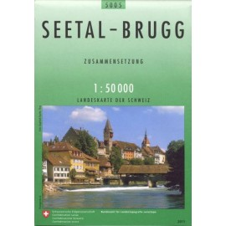 Carte randonnées swisstopo - Seetal Brugg - 5005