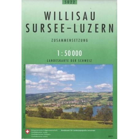 Achat Carte randonnées swisstopo - Willisau Sursee Luzern - 5022