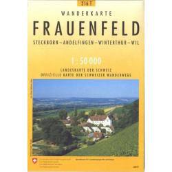 Achat Carte randonnées swisstopo - Frauenfeld Pedestre - 216T