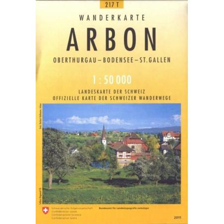 Achat Carte randonnées swisstopo - Arbon Pedestre - 217T