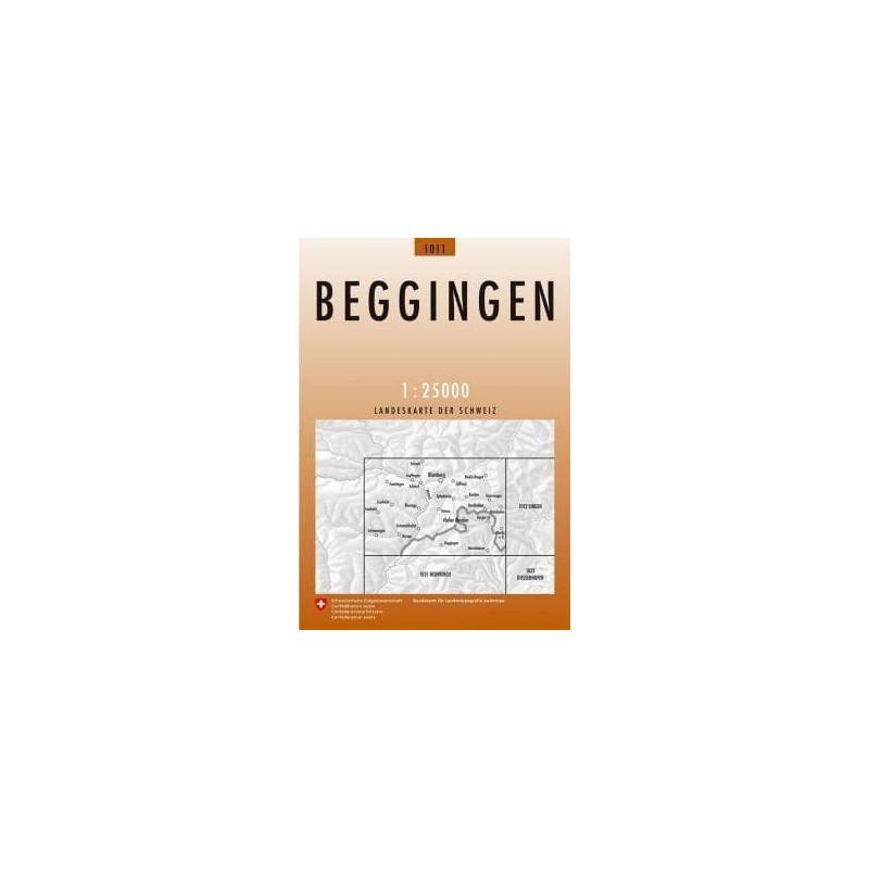 Achat Carte randonnées swisstopo - Beggingen - 1011