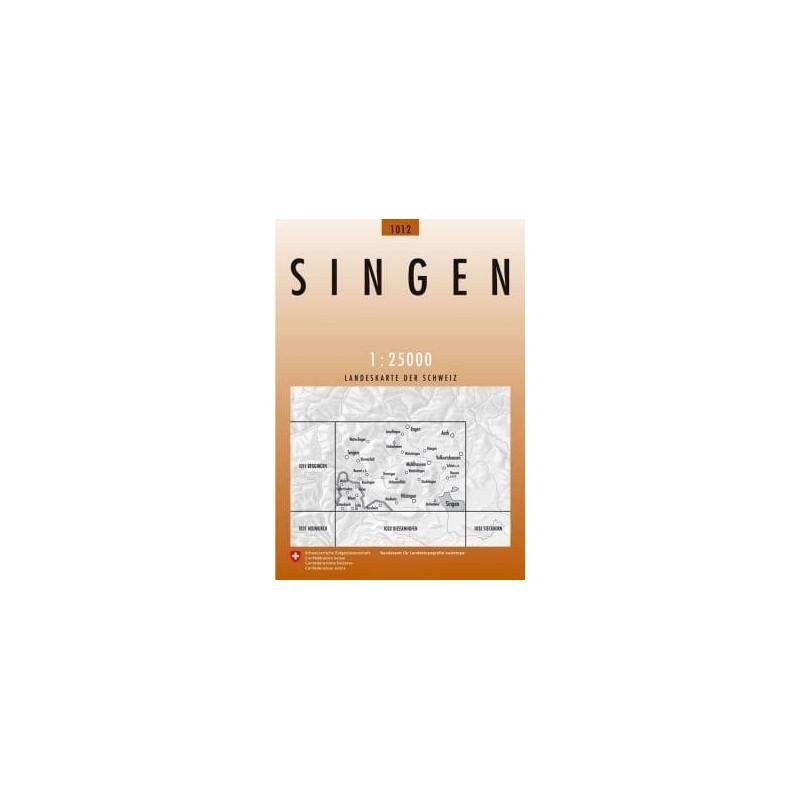 Achat Carte randonnées swisstopo - Singen - 1012