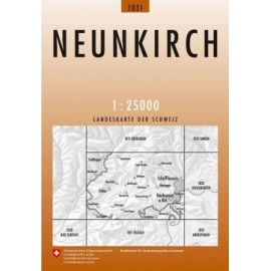 Achat Carte randonnées swisstopo - Neunkirch - 1031