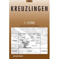 Achat Carte randonnées swisstopo - Kreuzlingen - 1034