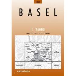 Achat Carte randonnées swisstopo - Basel - 1047