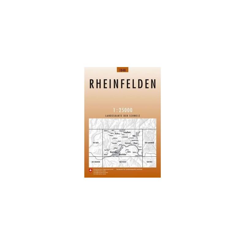Achat Carte randonnées swisstopo - Rheinfelden - 1048