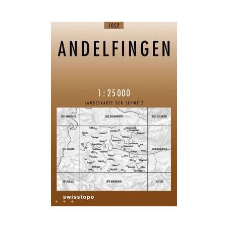 Achat Carte randonnées swisstopo - Andelfingen - 1052