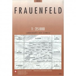Achat Carte randonnées swisstopo - Frauenfeld 1053