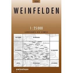 Achat Carte randonnées swisstopo - Weinfelden - 1054