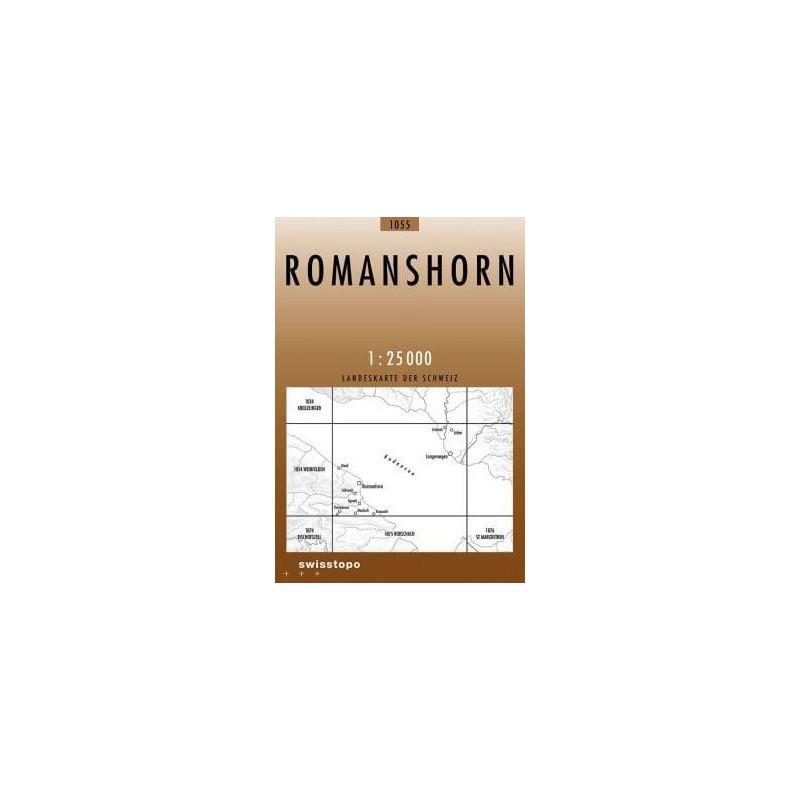 Achat Carte randonnées swisstopo - Romanshorn - 1055