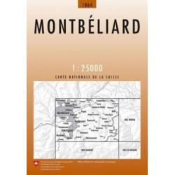 Achat Carte randonnées swisstopo - Montbéliard - 1064