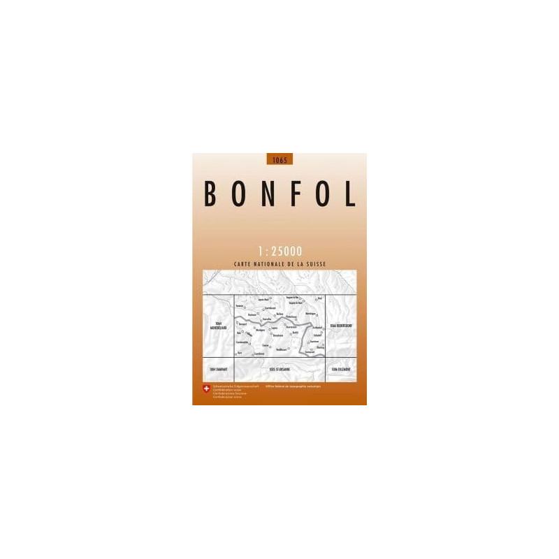 Achat Carte randonnées swisstopo - Bonfol - 1065