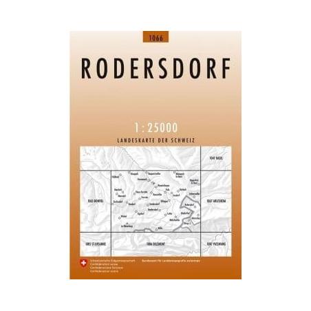 Achat Carte randonnées swisstopo - Rodersdorf - 1066